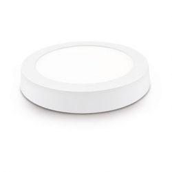Downlight led superficie matel redondo blanco 18w luz neutra