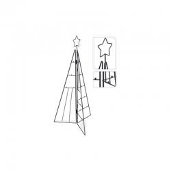 Arbol navidad metalico 3d 70 cm negro