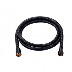 Flexo ducha inox negro 1,8 mts