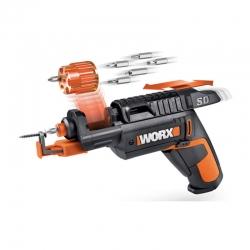 Atornillador a bateria worx wx255 4v con soporte tornillos atornillador