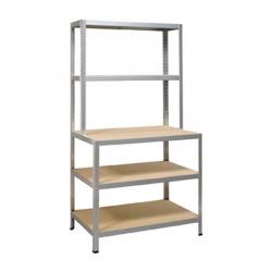 Banco de trabajo con estantes capacidad: 200 kg