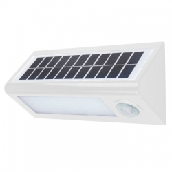 Aplique led solar blanco con sensor korpass 8w