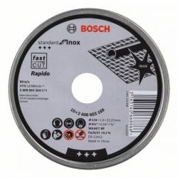 Disco de corte recto bosch 125 x 1 mm inox rapido - 10 discos