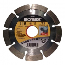 Disco de diamante ironside obra115x2x10 mm