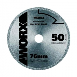 Disco de diamante worx wa5033 76 mm