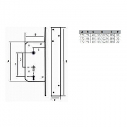 Cerradura arcu 302-60 izquierda serie corta293666