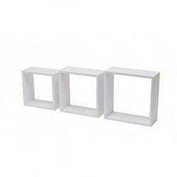 Estante cubo 3tc kit 3 uds blanco