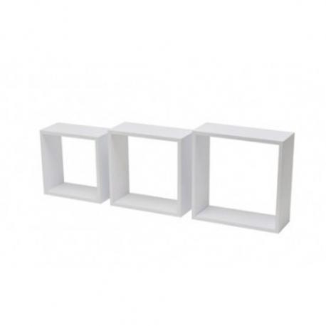 Estante cubo 3tc kit 3 uds blanco