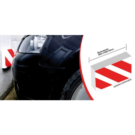 Protector frontal para parking 295 x 195 x 40 mm
