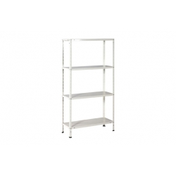 Estanteria metalica ironside 4 estantes blanca 150 x 75 x30 cm