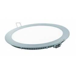 Downlight led matel 18w luz natural plata