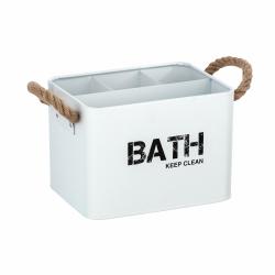 Cesta de baño con compartimentos blanco