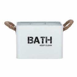 Cesta de baño con compartimentos blanco296961