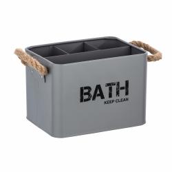 Cesta de baño con compartimentos gris