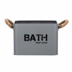 Cesta de baño con compartimentos gris296963
