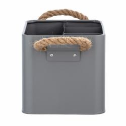 Cesta de baño con compartimentos gris296964