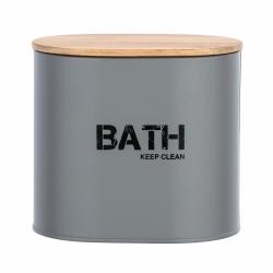 Cesta de baño con tapa gris