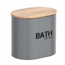 Cesta de baño con tapa gris296969