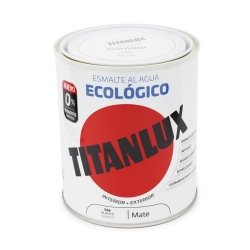 Esmalte al agua ecologico 750 ml titanlux 566 - blanco