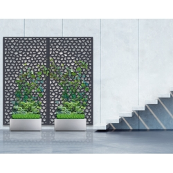 Panel decorativo nortene mosaic 1 x 2 m antracita299390