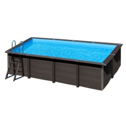 Piscina gre avantgarde kpcor60 composite aspecto madera rectangular 606x326x124 cm