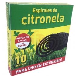 Espiral antimosquitos citronela 10 unidades