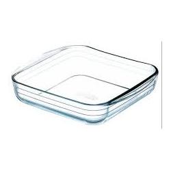 Fuente horno de vidrio ocuisine cuadrada 25x22cm