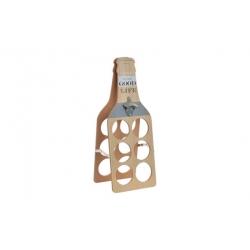 Botellero madera con abridor item cheers 6 botellas cerveza