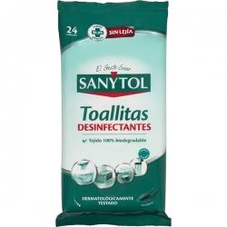 Toallitas desinfectantes sanytol multiusos 24u