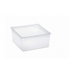 Caja organizadora multiusos light box transparente 23 litros