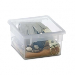 Caja organizadora multiusos light box transparente 2,5 litros