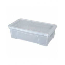 Caja organizadora multiusos light box transparente 36 litros