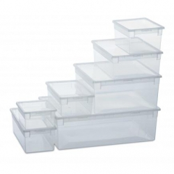Caja organizadora multiusos light box transparente 36 litros302578