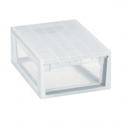 Caja organizadora multiusos light drawer transparente 12 litros