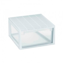Caja organizadora multiusos light drawer transparente 23 litros