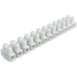 Regleta conexion electrica homologada 6 mm blanca