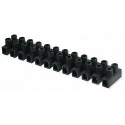 Regleta conexion 4 mm negra electrica homologada