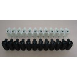 Regleta conexion 4 mm negra electrica homologada303070