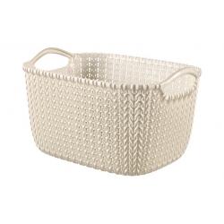 Cesta ordenacion knit 8 l blanco oasis