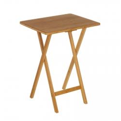 Mesa plegable bambu 49.5x37.5x65.5 cm