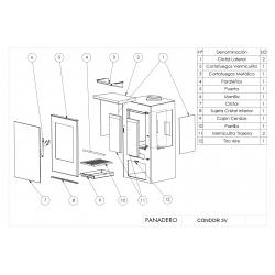 Estufa de leña panadero condor 3v ecodesign306877