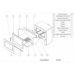 Estufa de leña panadero naxos ecodesign306903