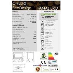 Insert panadero c-820-s ecodesign307054