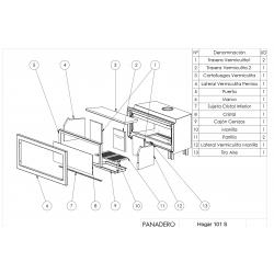 Estufa de leña panadero insert hogar ecodesign 101-s307058