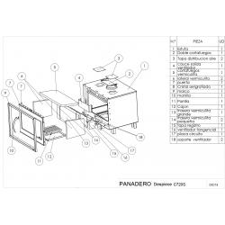 Insert panadero c-720-s ecodesign con ventilador307064