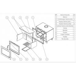 Estufa de leña panadero insert hogar f-720-s ecodesign307089