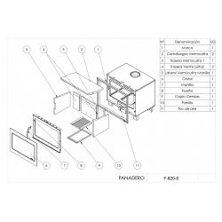 Estufa de leña panadero insert fireplace f-820-s ecodesign307092
