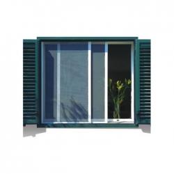 Mosquitera para ventana corredera bazar 70x130 cm blanco