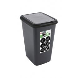 Cubo plastico green bin reciclado 50 l negro antracita