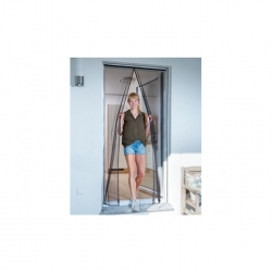 Mosquitera para puerta magnetica cortina 90x210 cm antracita